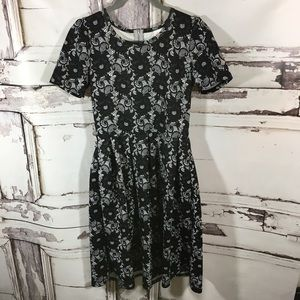 Lularoe Amelia Black and White Lace XS